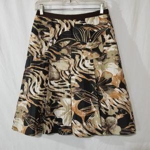 Spanner pleated midi flower print skirt